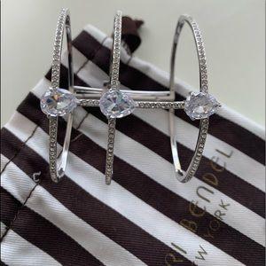 Henri Bandel silver bangle bracelet